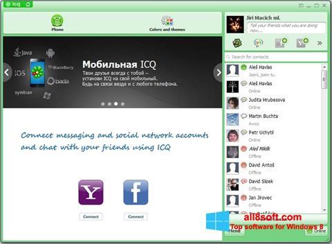 لقطة شاشة ICQ لنظام التشغيل Windows 8