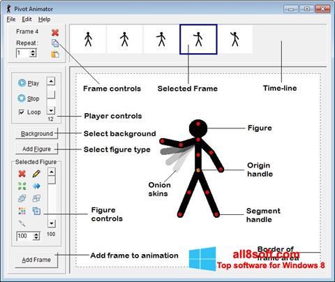 لقطة شاشة Pivot Animator لنظام التشغيل Windows 8