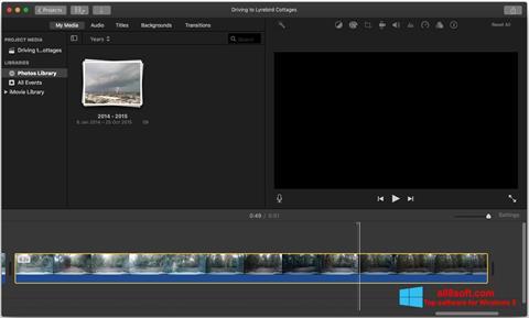 لقطة شاشة iMovie لنظام التشغيل Windows 8