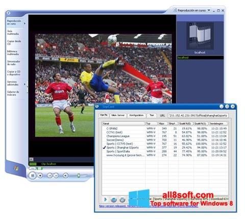 لقطة شاشة SopCast لنظام التشغيل Windows 8