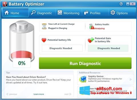لقطة شاشة Battery Optimizer لنظام التشغيل Windows 8