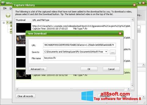 لقطة شاشة Free Video Catcher لنظام التشغيل Windows 8