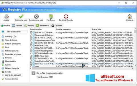 لقطة شاشة Vit Registry Fix لنظام التشغيل Windows 8