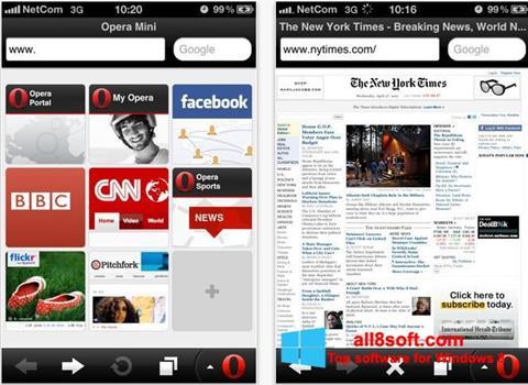 لقطة شاشة Opera Mini لنظام التشغيل Windows 8