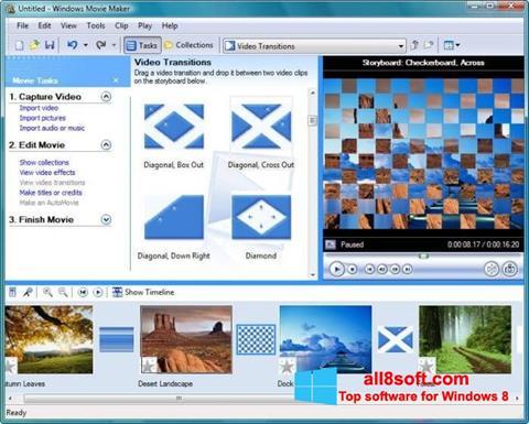 لقطة شاشة Windows Movie Maker لنظام التشغيل Windows 8