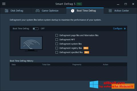 لقطة شاشة Smart Defrag لنظام التشغيل Windows 8