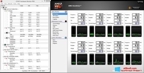 لقطة شاشة AMD Overdrive لنظام التشغيل Windows 8