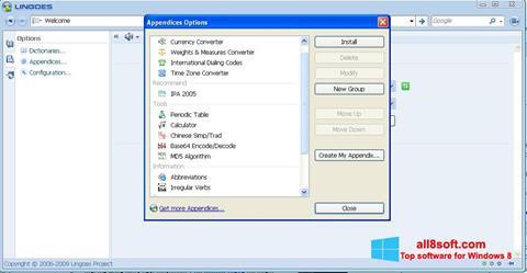 لقطة شاشة Lingoes لنظام التشغيل Windows 8