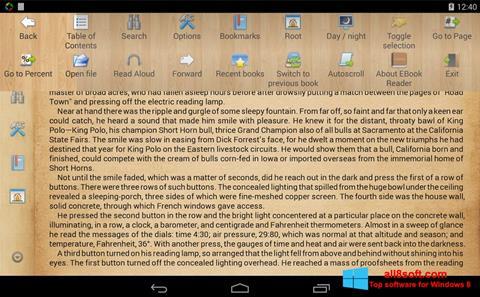 لقطة شاشة Cool Reader لنظام التشغيل Windows 8