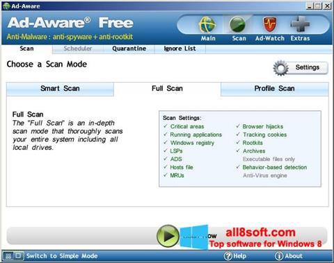 لقطة شاشة Ad-Aware Free لنظام التشغيل Windows 8