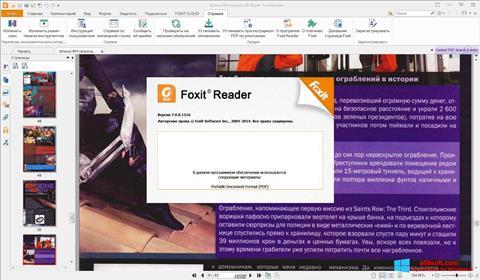لقطة شاشة Foxit Reader لنظام التشغيل Windows 8