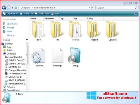 لقطة شاشة Windows 7 USB DVD Download Tool لنظام التشغيل Windows 8