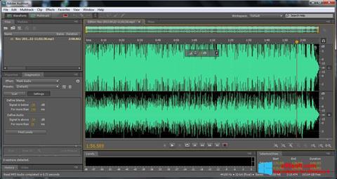 لقطة شاشة Adobe Audition لنظام التشغيل Windows 8