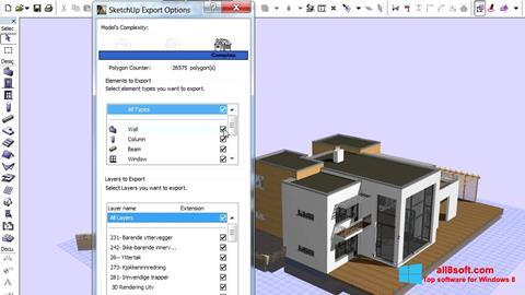 لقطة شاشة ArchiCAD لنظام التشغيل Windows 8