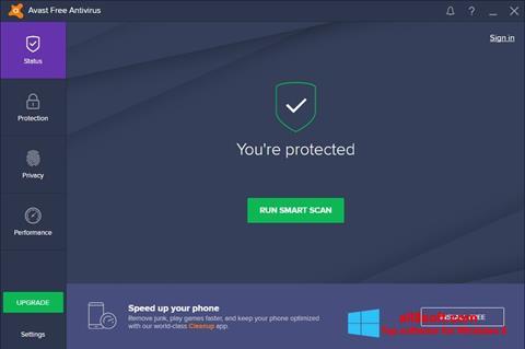 لقطة شاشة Avast Free Antivirus لنظام التشغيل Windows 8