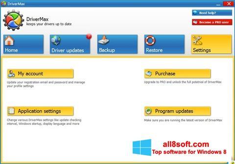 لقطة شاشة DriverMax لنظام التشغيل Windows 8
