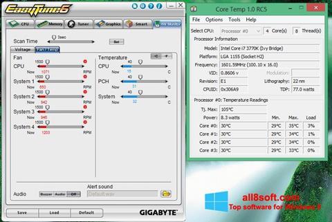 لقطة شاشة EasyTune لنظام التشغيل Windows 8