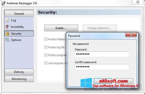 لقطة شاشة Ardamax Keylogger لنظام التشغيل Windows 8