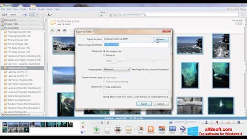 لقطة شاشة Picasa لنظام التشغيل Windows 8