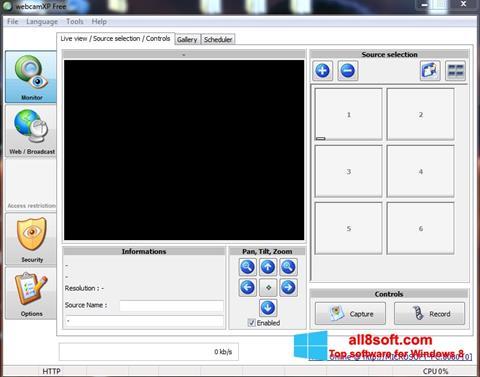 لقطة شاشة webcamXP لنظام التشغيل Windows 8