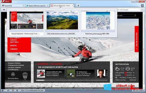 لقطة شاشة Opera لنظام التشغيل Windows 8