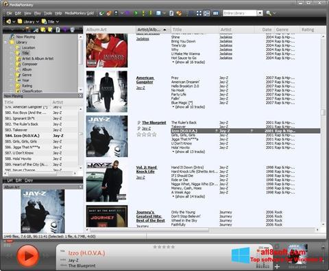 لقطة شاشة MediaMonkey لنظام التشغيل Windows 8