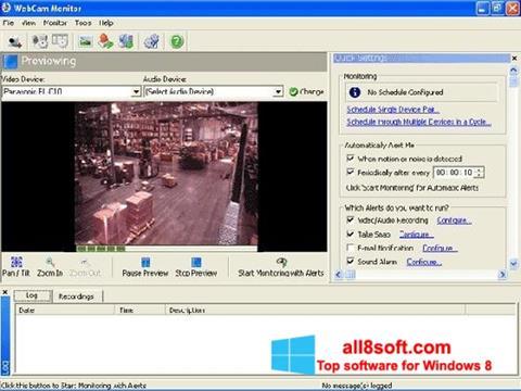 لقطة شاشة WebCam Monitor لنظام التشغيل Windows 8