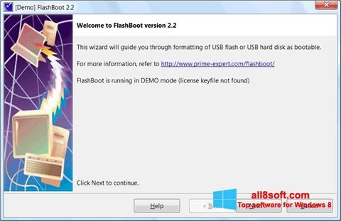 لقطة شاشة FlashBoot لنظام التشغيل Windows 8