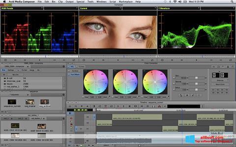 لقطة شاشة Avid Media Composer لنظام التشغيل Windows 8