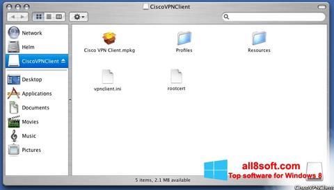 لقطة شاشة Cisco VPN Client لنظام التشغيل Windows 8