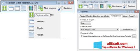 لقطة شاشة Free Screen Video Recorder لنظام التشغيل Windows 8