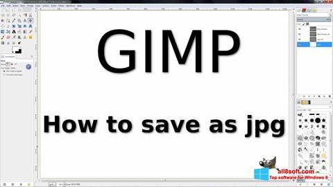 لقطة شاشة GIMP لنظام التشغيل Windows 8