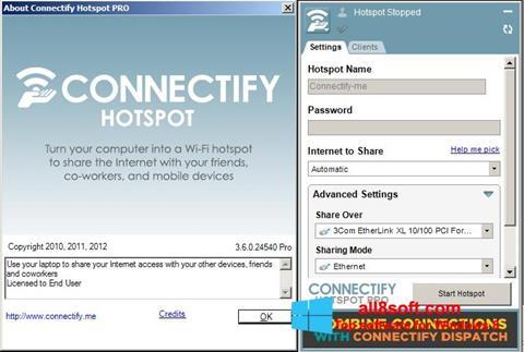 لقطة شاشة Connectify Pro لنظام التشغيل Windows 8