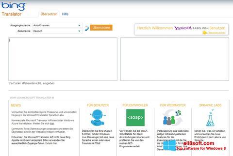 لقطة شاشة Bing Translator لنظام التشغيل Windows 8