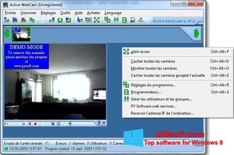 لقطة شاشة Active WebCam لنظام التشغيل Windows 8