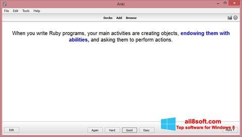 لقطة شاشة Anki لنظام التشغيل Windows 8