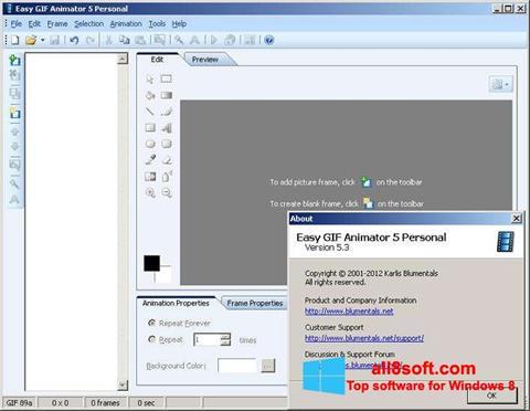 لقطة شاشة Easy GIF Animator لنظام التشغيل Windows 8