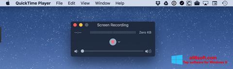 لقطة شاشة QuickTime لنظام التشغيل Windows 8