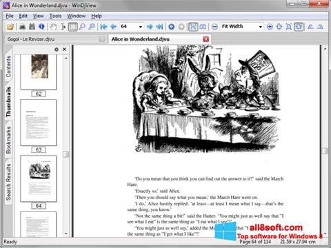لقطة شاشة DjView لنظام التشغيل Windows 8