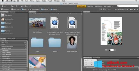 لقطة شاشة Adobe Bridge لنظام التشغيل Windows 8