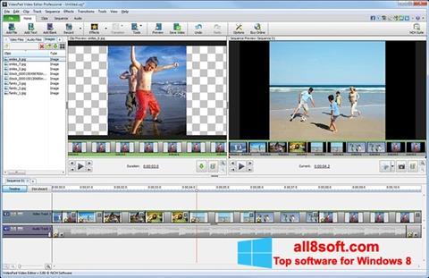 لقطة شاشة VideoPad Video Editor لنظام التشغيل Windows 8