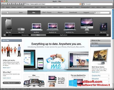 لقطة شاشة Safari لنظام التشغيل Windows 8