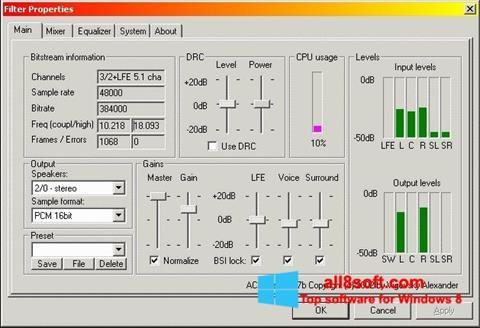 لقطة شاشة AC3 Codec لنظام التشغيل Windows 8