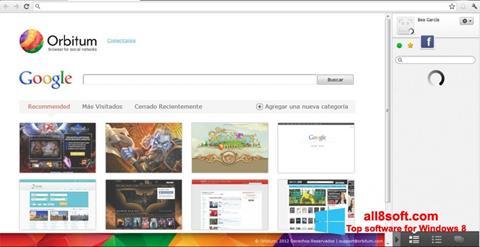 لقطة شاشة Orbitum لنظام التشغيل Windows 8
