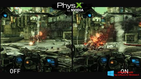 لقطة شاشة NVIDIA PhysX لنظام التشغيل Windows 8