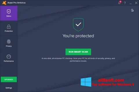 لقطة شاشة Avast! Pro Antivirus لنظام التشغيل Windows 8