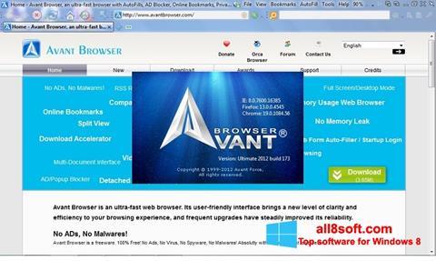 لقطة شاشة Avant Browser لنظام التشغيل Windows 8