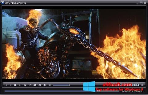لقطة شاشة AVS Media Player لنظام التشغيل Windows 8