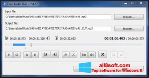 لقطة شاشة Free Audio Dub لنظام التشغيل Windows 8