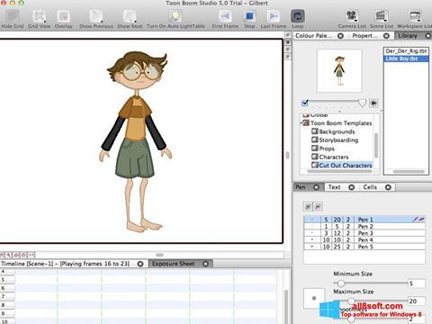 لقطة شاشة Toon Boom Studio لنظام التشغيل Windows 8
